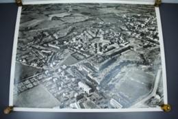 Grande Photo Aérienne Panoramique Fortification De ROCROI Etoile VAUBAN Circa 1960 Photographie Ancienne - Places