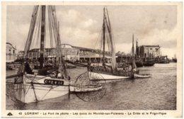 56 LORIENT - Le Port De Pêche - Les Quais Du Marché-aux-Poissons - La Criée Et Le Frigorifique - Lorient