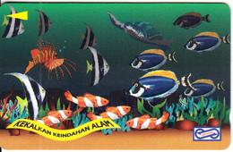 MALAYSIA(GPT) - Fish, Painting/Undersea(RM50), CN : 21USBD/B(normal 0), Tirage 30000, Used - Malaysia