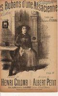 PARTITION N°136 / LES RUBANS D UNE ALSACIENNE / HENRY COLOMG ALBERT PETIT : ORLOGE - Liederbücher