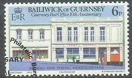 1979 10 Th Anniversary Post Office, 6p, Used - Guernsey