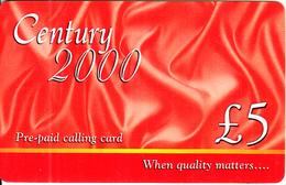 IRELAND - Century 2000 Prepaid Card 5 Pounds, Used - Ireland