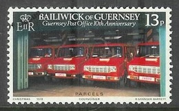 1979 10 Th Anniversary Post Office, 13p, Used - Guernsey