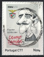 Portugal 2016 Oblitéré Used Figures Historiques Football Portugais Cosme Damião Benfica SU - 1910-... République