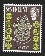 V) 1964 SAINT VINCENT, BOY SCOUTS, GOLDEN JUBILEE 1914-1964 - St.Vincent (1979-...)