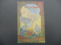 CPA - Tapis D'Orient - Grands Magasins Leonhard Tietz - Bruxelles - Rue Neuve - Cachet Constantinople - Publicité