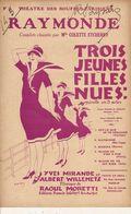 PARTITION N°143 / 3 JEUNES FILLES NUES /RAYMONDE : Raoul MORETTI - Liederbücher