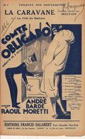 PARTITION N°144 N°1LA CARAVANNE OU LA FILLE DU BEDOUIN / ANDRE BARDE  MORETTI / - Liederbücher