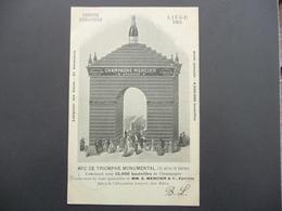 CPA - Champagne Mercier, Epernay - Expo Internationale Liège 1905 - Arc De Triomphe Monumental Avec 15.000 Bouteilles - Werbepostkarten