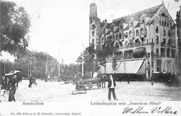 """Amsterdam - Leidscheplein Met 'American Hôtel"""" (animation, Schaefer 1904) - Amsterdam"""