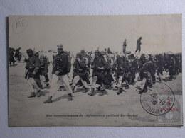 Rèf:PM - CPA//CP - BER-RECHID - Une Reconnaissance De Légionnaires Quittant Ber-Rechid - Autres