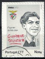 Portugal 2016 Oblitéré Used Figures Historiques Football Portugais Gustavo Teixeira Benfica SU - 1910-... République