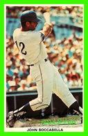 SPORTS BASEBALL - JOHN BOCCABELLA, RECEVEUR DES EXPOS, MONTRÉAL AVEC FICHE 1973 - - Baseball