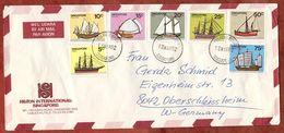 Vordruckumschlag Hilton International, Luftpost, Schiffe, Singapore Nach Oberschleissheim 1982 (74330) - Singapur (1959-...)
