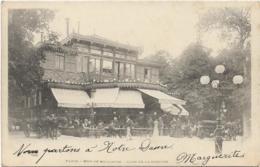D75 - PARIS - BOIS DE BOULOGNE - CAFE DE LA CASCADE - Nombreuses Personnes - Calèches -  PRECURSEUR - Parcs, Jardins