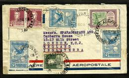 ARGENTINA 1933 AIR COVER TO UK , AEROPOSTALE, GOOD POSTAGE !!! - Argentina