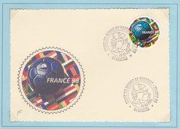 "01 16006PJ Timbre Rond "" FRANCE 98"" - Nantes 28/02/1998 - FDC"