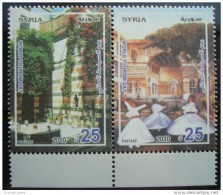 Syria 2010 MNH - World Tourism Day - Old Houses - Complete Set Of 2v. In One Pane - Darawish - Traditional Dancers - Syria