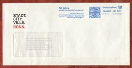 Brief, FRANKIT Neopost 1D150.., 50 Jahre Deutsch-franzoesische Freundschaft Bonn, 58 C, 2013 (74339) - BRD