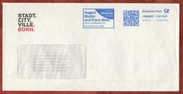Brief, FRANKIT Neopost 1D150.., August Macke Und Franz Marc Kunstmuseum Bonn, 90 C, 2014 (74341) - BRD