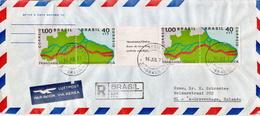 Postal History Cover: Brazil Transamazonica Stripe On Cover - Geography