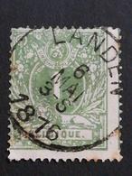 COB N ° 26 Oblitération Landen 1876 - 1869-1883 Léopold II