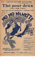 PARTITION N° 152 : THE POUR DEUX / No No  Nanette : TEA FOR TWO / N+1 - Liederbücher