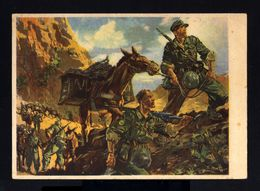 3899-GERMAN EMPIRE-MILITARY PROPAGANDA POSTCARD GERMAN SOLDIER In ACTION.WWII.DEUTSCHES REICH.POSTKARTE.carte Postale - Briefe U. Dokumente