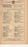 PARTITION / 156 /VIOLON SEUL : MASSENET  Prelude CLAIR DE LUNE - Opera