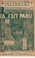 PARTITION / 157 / CA C EST PARIS / MISTINGUETTE / JOSE PADILLA / MOULIN ROUGE - Liederbücher