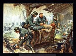 11413-GERMAN EMPIRE-MILITARY PROPAGANDA POSTCARD GERMAN SOLDIER In ACTION.WWII.DEUTSCHES REICH.POSTKARTE.carte Postale - Allemagne