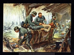 11413-GERMAN EMPIRE-MILITARY PROPAGANDA POSTCARD GERMAN SOLDIER In ACTION.WWII.DEUTSCHES REICH.POSTKARTE.carte Postale - Germania