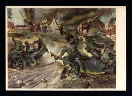 16550-GERMAN EMPIRE-MILITARY PROPAGANDA POSTCARD GERMAN SOLDIER In ACTION.WWII.DEUTSCHES REICH.POSTKARTE.carte Postale - Briefe U. Dokumente