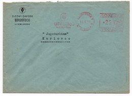1955 YUGOSLAVIA, SLOVENIA, LJUBLJANA TO KARLOVAC, TITOVI ZAVODI, LITOSTROJ - 1945-1992 Socialist Federal Republic Of Yugoslavia