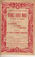 PARTITION / 160 Venez Avec Moi / A LEWIS CARMEN LOMBARDO - Liederbücher