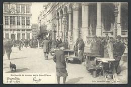 +++ CPA - Brussel - BRUXELLES - Marchands De Mourron Sur La Grand'Place - Métier - Marchand Ambulant - Marché  // - Ambachten