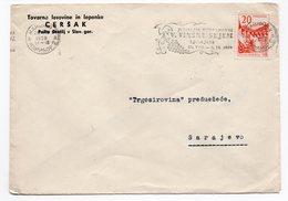 1959 YUGOSLAVIA, SLOVENIA, MARIBOR TO SARAJEVO, CERŠAK, FLAM VINSKI SAJAM - 1945-1992 Socialist Federal Republic Of Yugoslavia