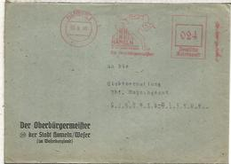 ALEMANIA HAMLEIN 1945 FRANQUEO MECANICO CUENTO DEL FLAUTISTA DE HAMELIN - Cuentos, Fabulas Y Leyendas