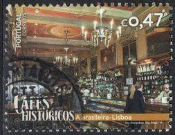Portugal 2016 Oblitéré Used Cafés Históricos Cafés Historiques A Brasileira Lisbonne SU - 1910-... République