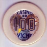 CASINO DE VICHY - Jeton De 100 Francs Avec Rajout D'une Virgule Pour Le Passage Au Nouveau Franc - Casino