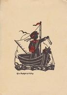 AK Eine Seefahrt Ist Lustig - Bub Auf Boot - Scherenschnitt  (41425) - Scherenschnitt - Silhouette