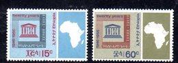 ETP203 - ETIOPIA 1966 ,  Serie Yvert N. 474/475  ***  MNH (2380A)  Unesco - Etiopia