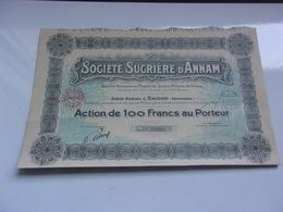 SUCRIERE D'ANNAM ( 100 Francs) SAIGON-INDOCHINE - Unclassified