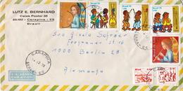 Postal History Cover: Brazil Set On Cover - Music