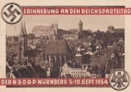 Deutsches Reich Postkarte Propaganda 1934 Reichsparteitag - Deutschland