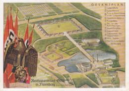 Deutsches Reich Postkarte Propaganda 1938 Reichsparteitag-gelände - Deutschland