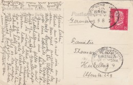 Deutsches Reich Postkarte Seepost Bremen - NYC 1928 - Gebraucht