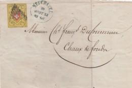 Schweiz Brief 1853 (nur Vorseite) - Usati