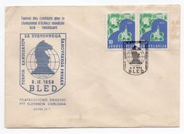 1961 YUGOSLAVIA, SLOVENIA, BLED, SPECIAL COVER, CANDIDATES TOURNAMENT FOR CHESS WORLD CHAMPIONS - 1945-1992 Socialist Federal Republic Of Yugoslavia