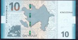 Azerbaijan 10 Manat 2018 UNC Pick - New - Azerbeidzjan